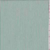 *5 1/4 YD PC--Kelly/White Stripe Cotton Shirting