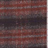 *2 3/4 YD PC--Burnt Orange Plaid Brushed Jacketing