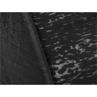 *2 YD PC--Black Cotton Blend Textured Burnout Jersey