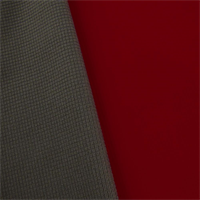 *1 YD PC--Red/Gray Waterproof Stretch Soft Shell Grid Fleece