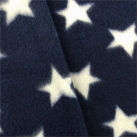 *3 1/2 YD PC--Navy Blue/White Star Fleece