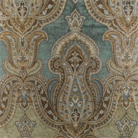 *7 YD PC--Brown/Beige Paisley Chenille Jacquard Home Decorating Fabric