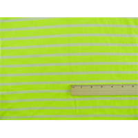 *1 3/8 YD PC--Neon Yellow Stripe Baby French Terry Knit
