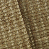 *1 YD PC--Cinnamon Brown Valdese Redeem Chenille Upholstery Fabric