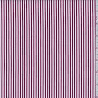 *5 YD PC--Deep Red/White Stripe Cotton Shirting