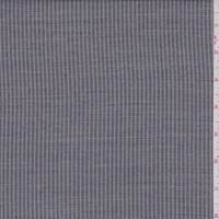 *1/2 YD PC--Black/Pale Grey Stripe Rayon Blend Suiting