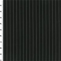 *3 5/8 YD PC--Black Wool Pin-Stripe Voile