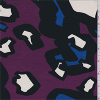 *1 YD PC--Magenta Multi Modern Animal Print Tencel Jersey Knit