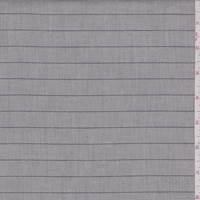 Pale Heather Grey Pinstripe Fine Line Twill