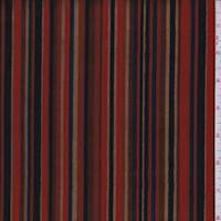 Bright Red Multi Stripe Corduroy