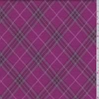 *1 1/8 YD PC--Raspberry Argyle Double Knit