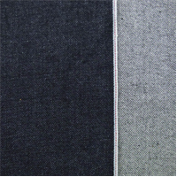 *1 5/8 YD PC--Navy Cotton Japanese Selvedge Denim