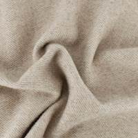 Beige Wool Brushed Twill Coating