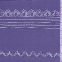 Purple Stitch Stripe Silk Chiffon