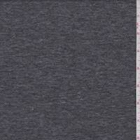*3 1/2 YD PC--Black/Grey Heather Pique Double Knit