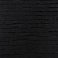 *2 3/4 YD PC--Black Pleated Knit