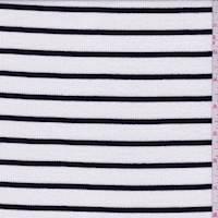 White/Black Venice Stripe Rib Knit