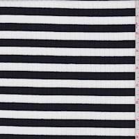 Black/White Stripe Rib Knit