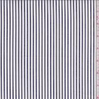 Chalk/Slate Stripe Cotton Shirting
