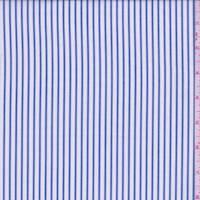 White/Denim Blue Stripe Cotton Shirting
