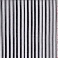 White/Onyx Stripe Cotton Shirting