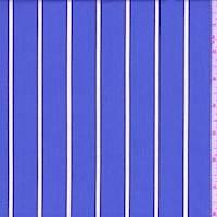 Dark Periwinkle Stripe Cotton Shirting