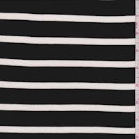 Black/White Stripe Cotton Jersey Knit