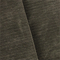 *6 1/2 YD PC--Smoke Gray Velvet Rib Home Decorating Fabric
