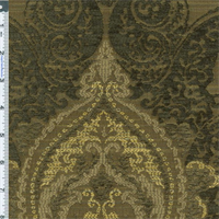 *5 YD PC--Slate/Beige Paisley Chenille Matelasse Home Decorating Fabric