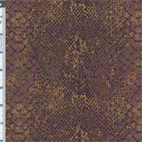*3 1/2 YD PC--Purple/Orange Snakeskin Jacquard Home Decorating Fabric