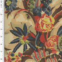 *1 1/2 YD PC--Designer Cotton Multi Floral Print Decorating Fabric