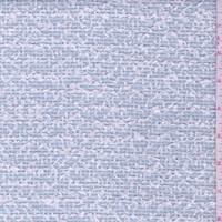 *1 1/4 YD PC--Spa Blue/White Wool Blend Boucle