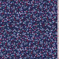 *3 YD PC--Midnight Multi Confetti Rayon Challis