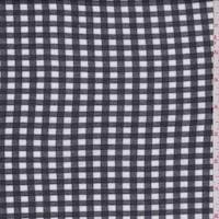 Black/White Check Cotton Jersey Knit