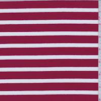 Apple Red/White Stripe Jersey Knit