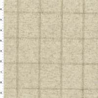 Natural Beige Linen Blend Texture Grid Woven