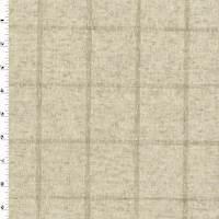 Natural Beige Linen Blend Texture Grid Woven