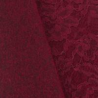 Ruby Red Wool Blend Floral Lace Knit Coating