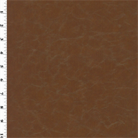 *3 3/8 YD PC--Faux Leather - Caramel Brown