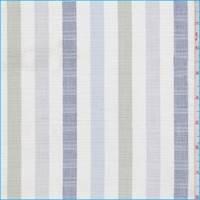 *1 3/4 YD PC--White/Sage/Grey Stripe Linen Blend