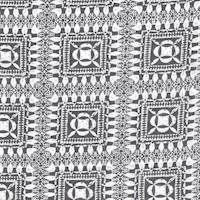 *5 3/8 YD PC--Black/Ivory Block Print Challis