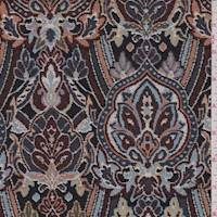 Black/Copper Metallic Baroque Jacquard