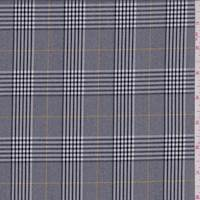 Dark Grey Glenplaid Suiting