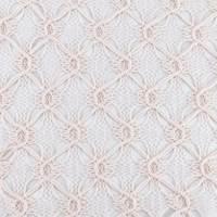Champagne Pink Diamond Trellis Crochet Lace