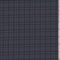 *2 5/8 YD PC--Pewter Multi Plaid Shirting