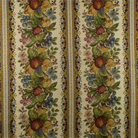 *1 YD PC--Ivory/Multi Fruit Floral Tapestry Home Decorating Fabric