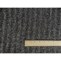 *4 YD PC--Dark Grey/Gold Wool Blend Boucle Sweater Rib Knit