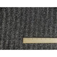 *4 YD PC--Dark Grey/Gold Wool Blend Boucle Sweater Rib Knit