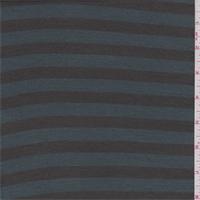 *4 1/8 YD PC--Clove/Spruce Stripe Rayon Jersey Knit