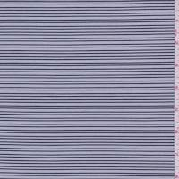 Slate Stripe Cotton Shirting